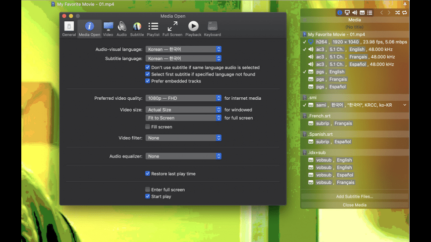 Movist for Mac - review, screenshots