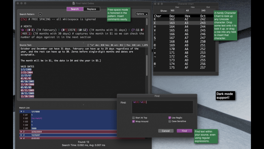 RegExRX for Mac - review, screenshots