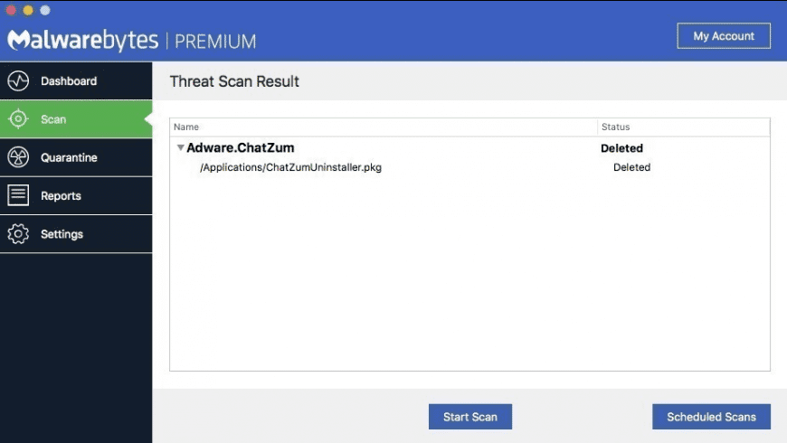 Malwarebytes for Mac - review, screenshots