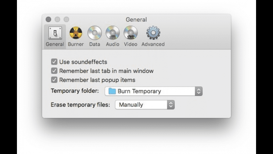 Burn for Mac - review, screenshots