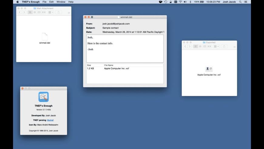 TNEFs Enough for Mac - review, screenshots
