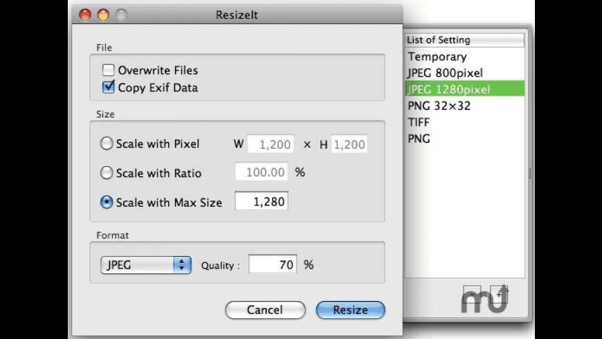ResizeIt for Mac - review, screenshots