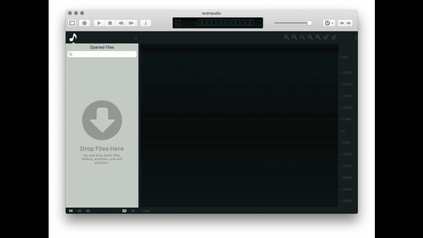 ocenaudio for Mac - review, screenshots