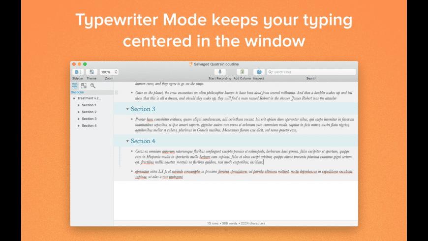 OmniOutliner Pro for Mac - review, screenshots