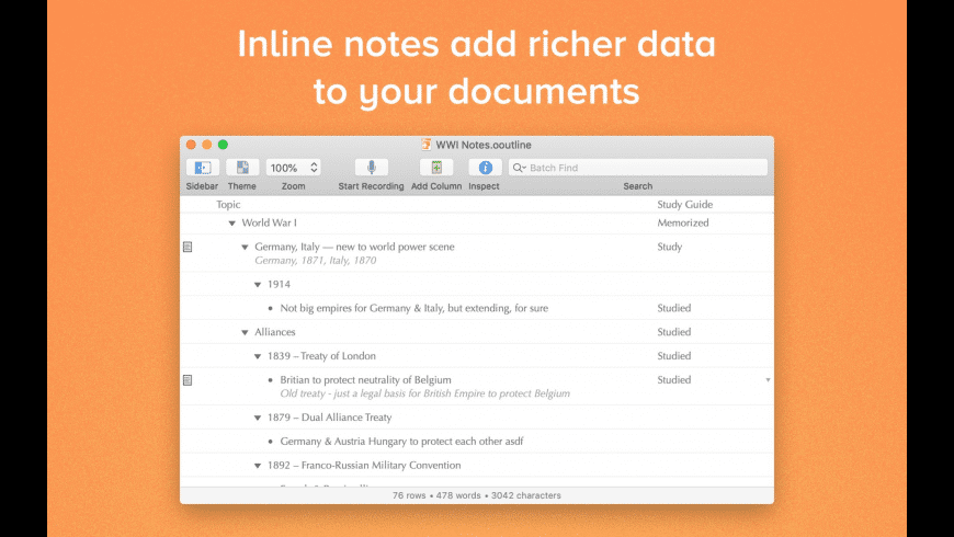 OmniOutliner Pro for Mac - review, screenshots