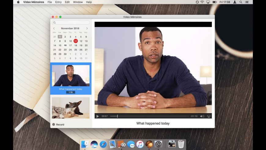 Video Memoires for Mac - review, screenshots