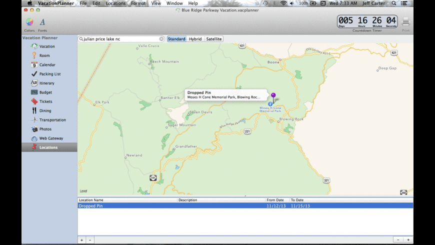 VacationPlanner for Mac - review, screenshots