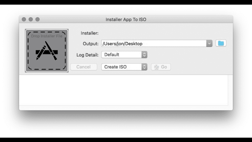 InstallerApp2ISO for Mac - review, screenshots