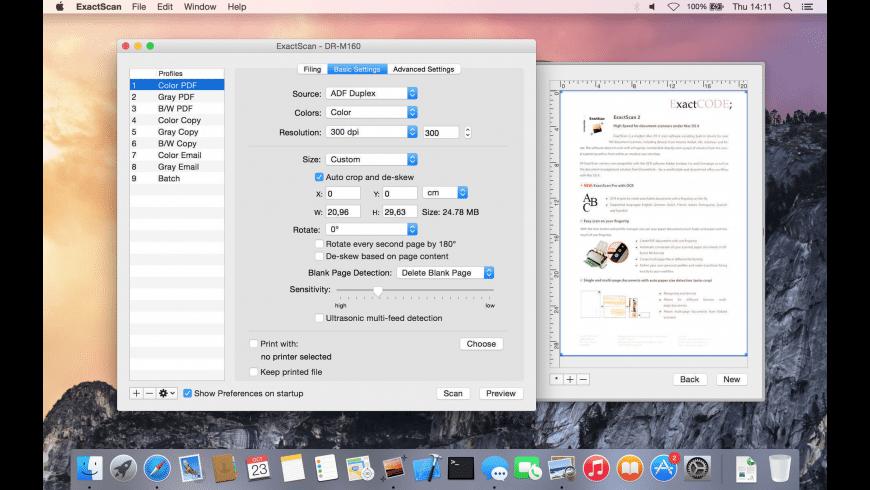 ExactScan for Mac - review, screenshots