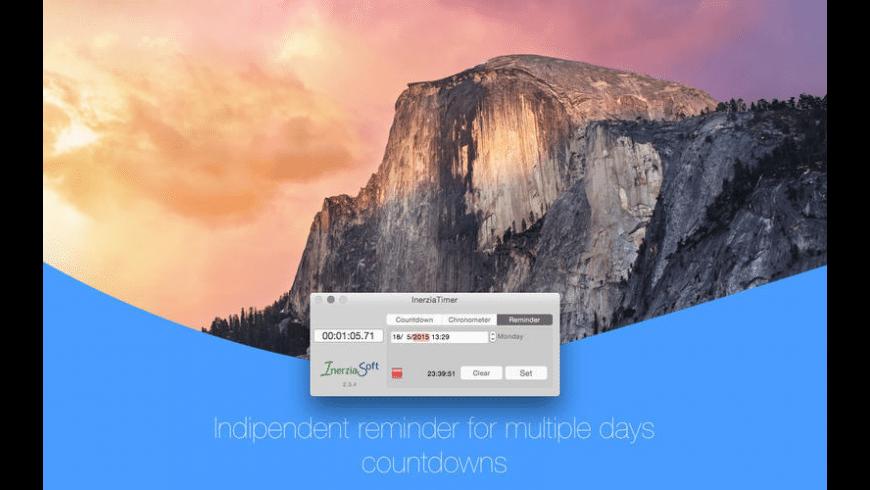 InerziaTimer for Mac - review, screenshots
