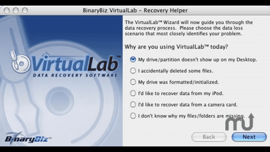 VirtualLab Data Recovery for Mac - review, screenshots