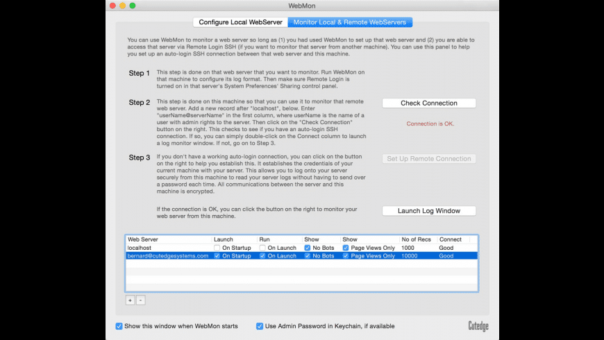 WebMon for Mac - review, screenshots