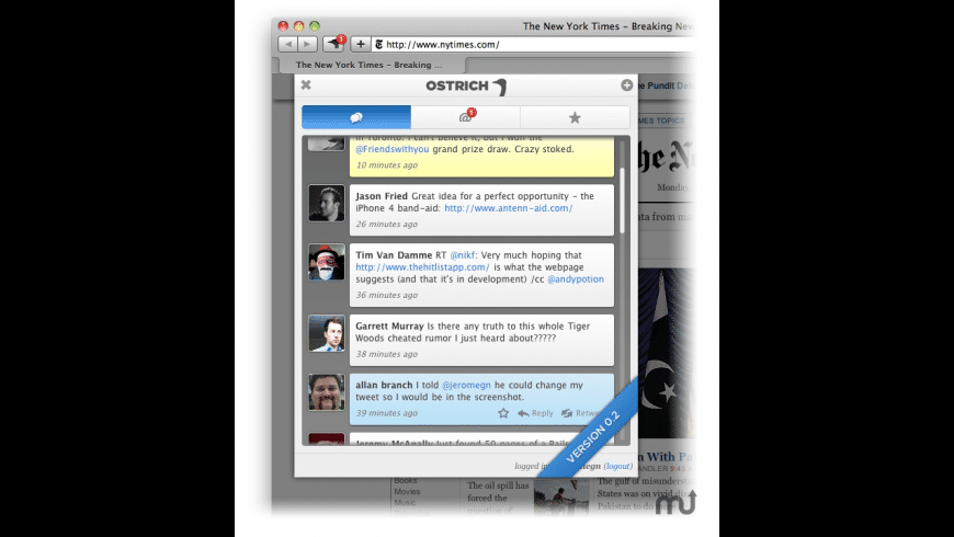 Ostrich for Mac - review, screenshots