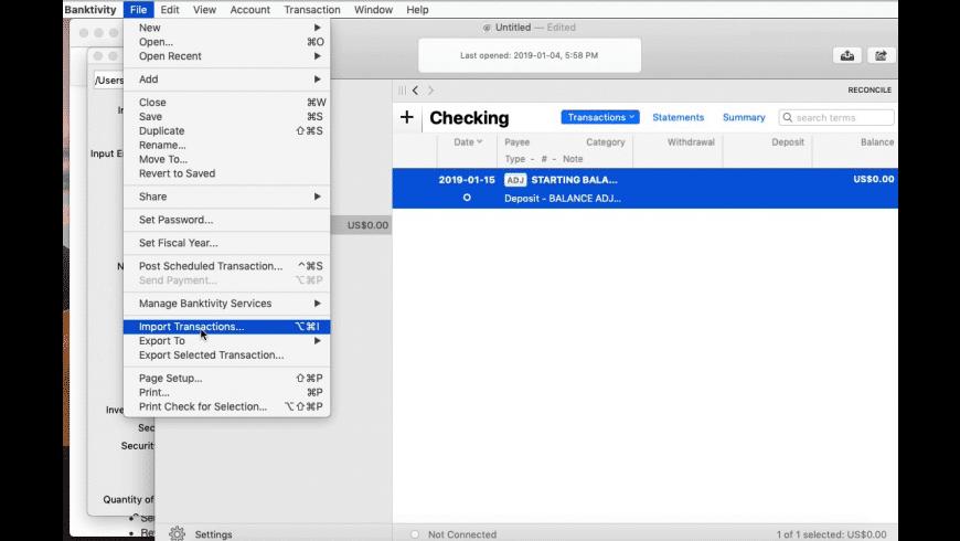 CSV2QIF for Mac - review, screenshots
