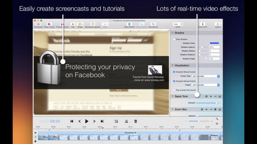 Screenium for Mac - review, screenshots
