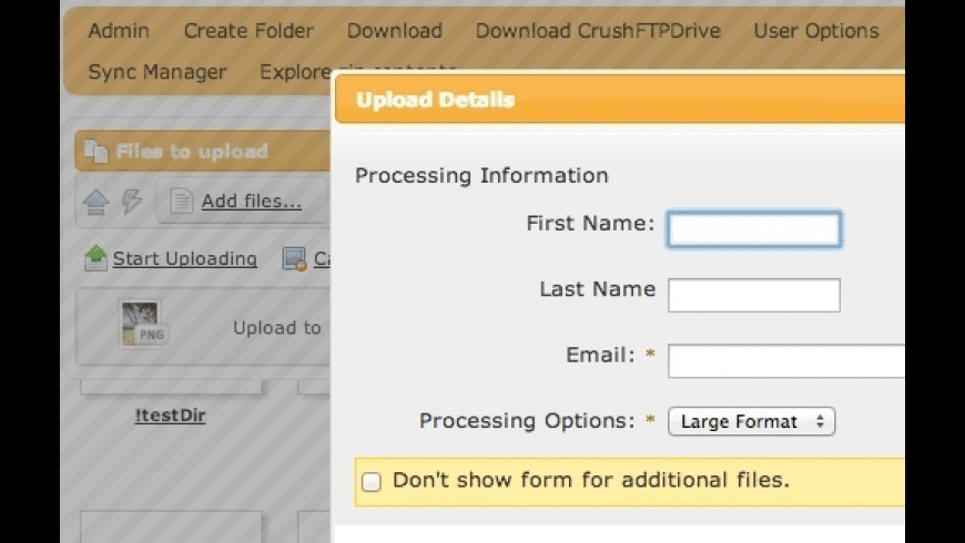 CrushFTP Professional for Mac - review, screenshots
