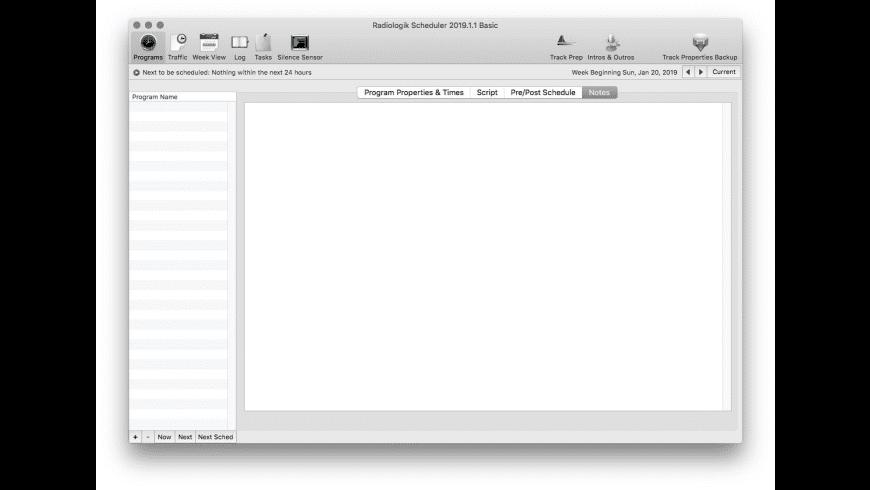 Radiologik Scheduler for Mac - review, screenshots