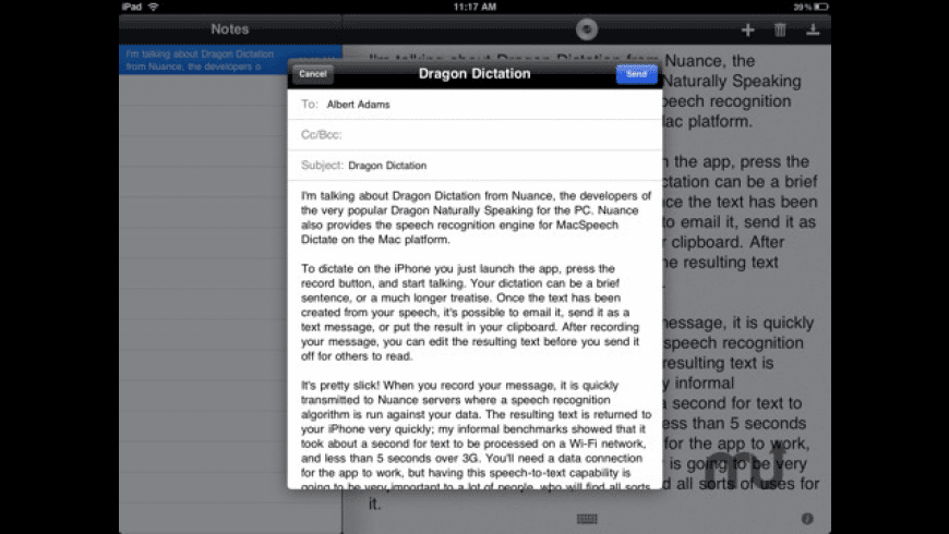 Dragon Dictation for Mac - review, screenshots
