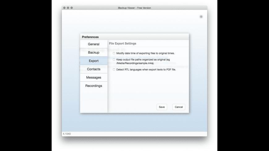 iBackup Viewer for Mac - review, screenshots