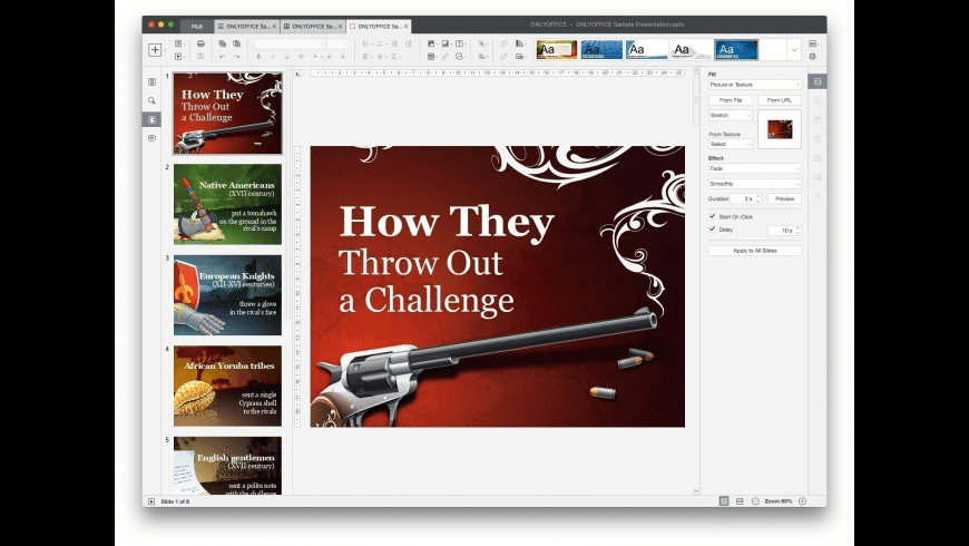 ONLYOFFICE Desktop Editors for Mac - review, screenshots