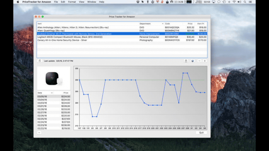 PriceTracker for Mac - review, screenshots