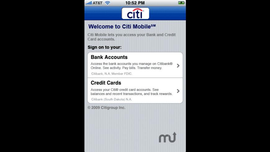 Citi Mobile (sm) for Mac - review, screenshots