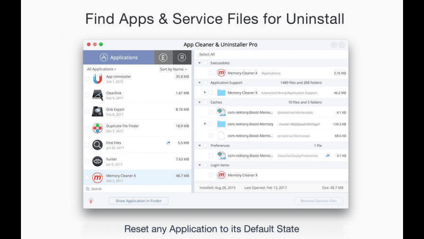 App Cleaner & Uninstaller for Mac - review, screenshots