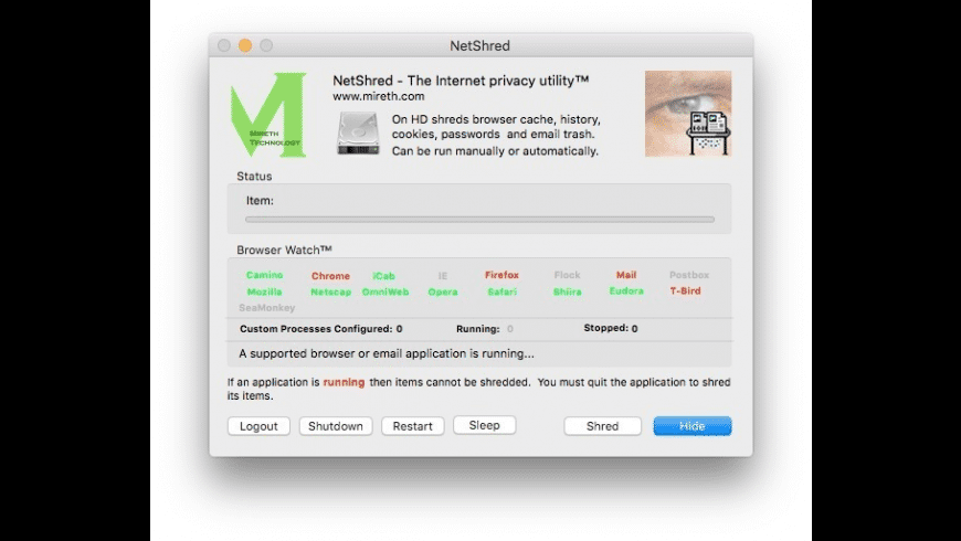 NetShred X for Mac - review, screenshots