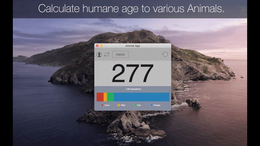 Animal Age for Mac - review, screenshots