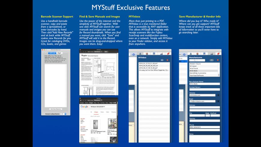MYStuff Pro for Mac - review, screenshots