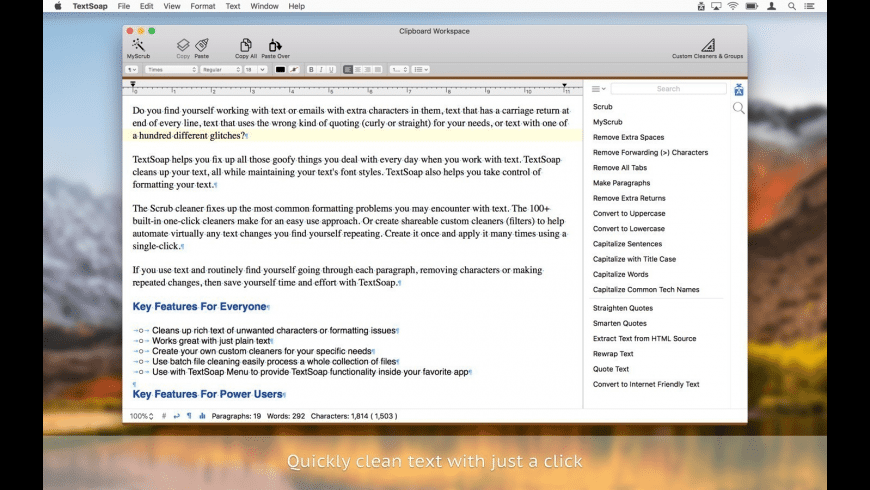 TextSoap for Mac - review, screenshots