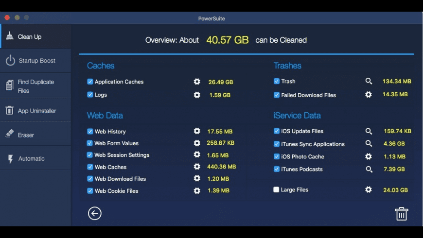 Mac PowerSuite for Mac - review, screenshots