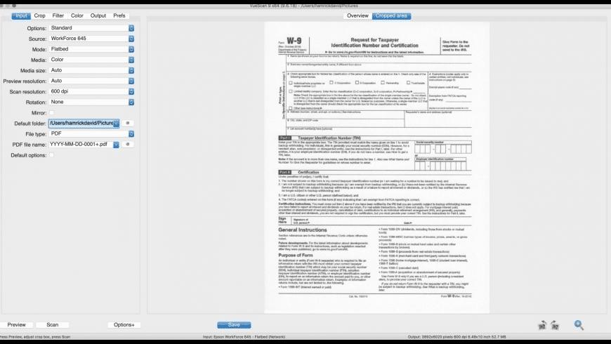 VueScan for Mac - review, screenshots