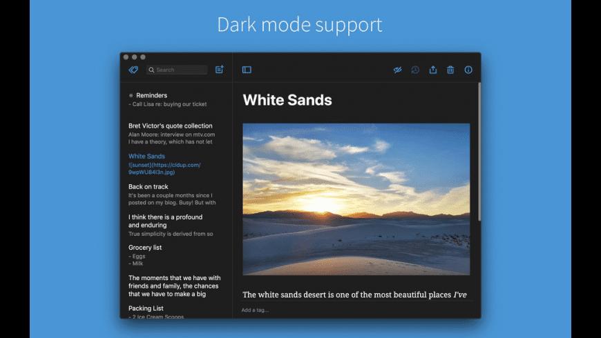 Simplenote for Mac - review, screenshots
