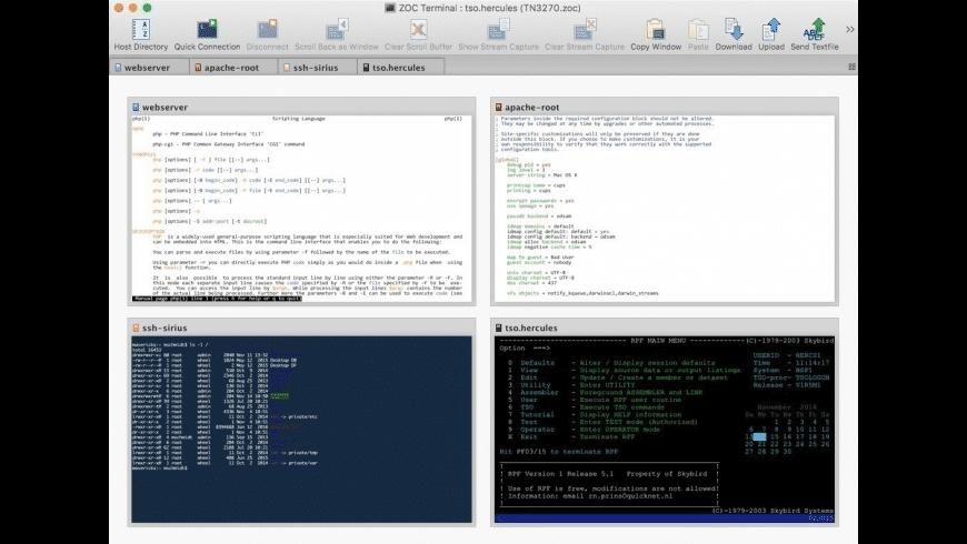 ZOC Terminal for Mac - review, screenshots