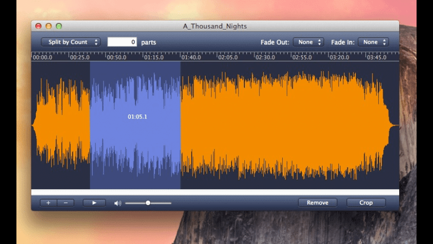 MP3 Splitter for Mac - review, screenshots