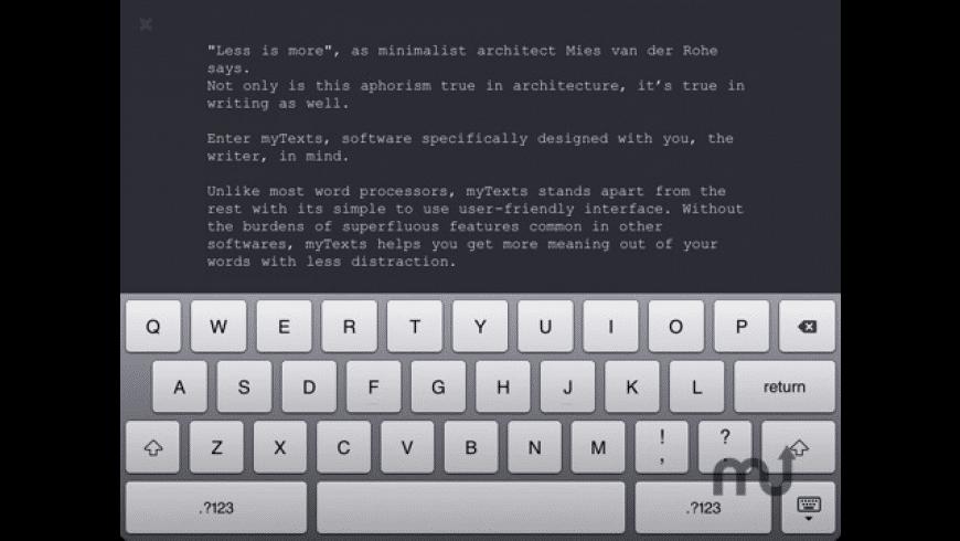 myTexts for Mac - review, screenshots