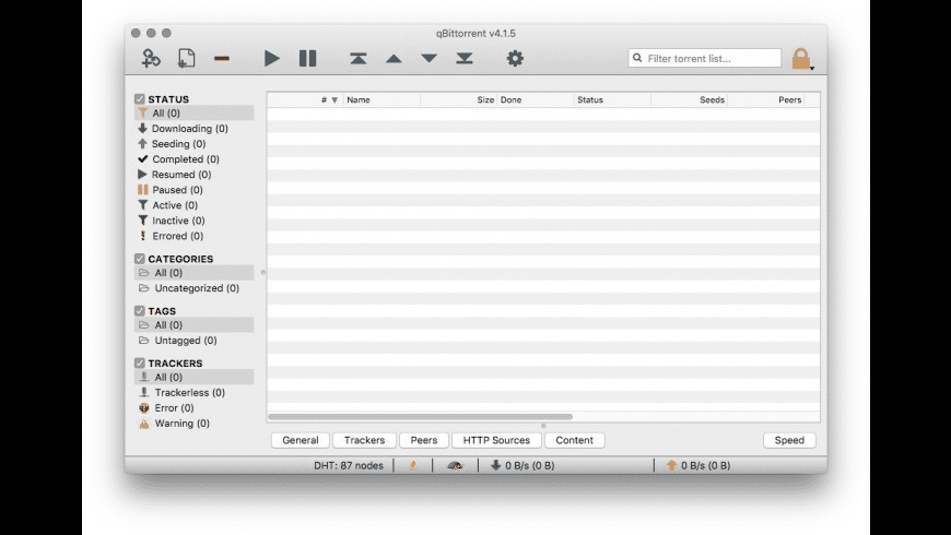 qBitTorrent for Mac - review, screenshots