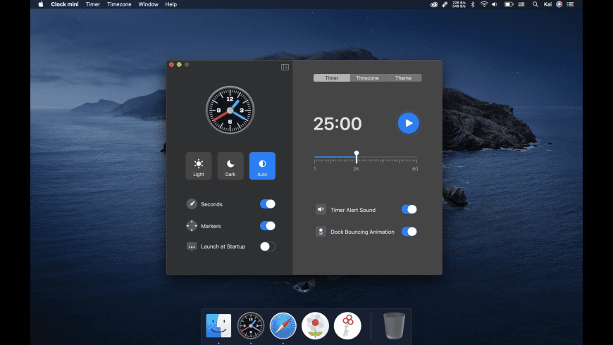 Clock mini for Mac - review, screenshots