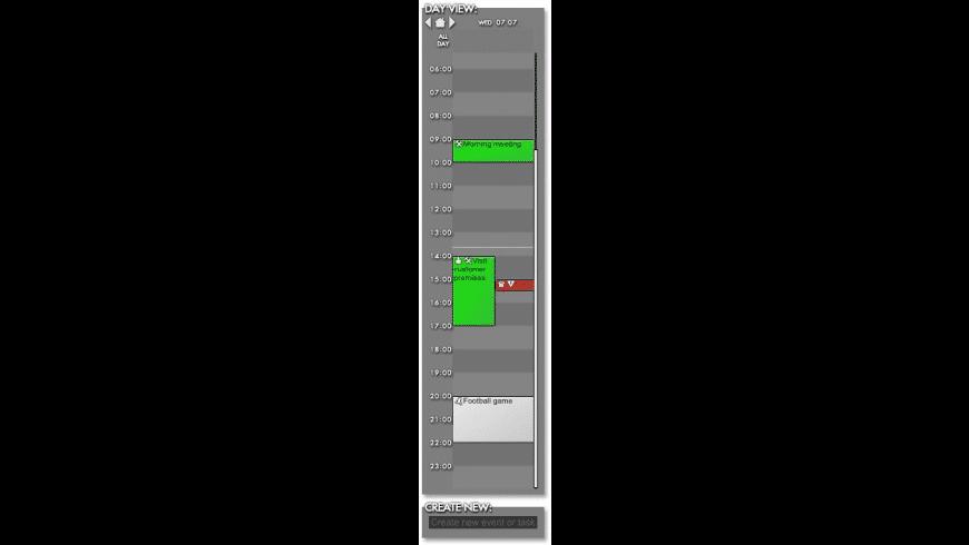 Rainlendar Pro for Mac - review, screenshots