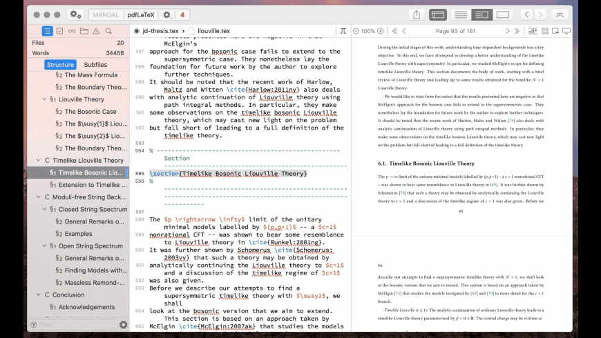 Texpad for Mac - review, screenshots