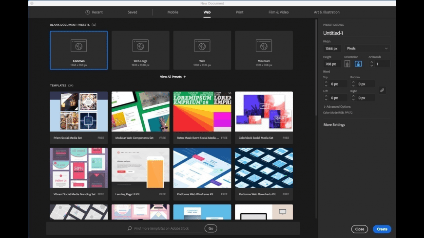 Adobe Illustrator for Mac - review, screenshots