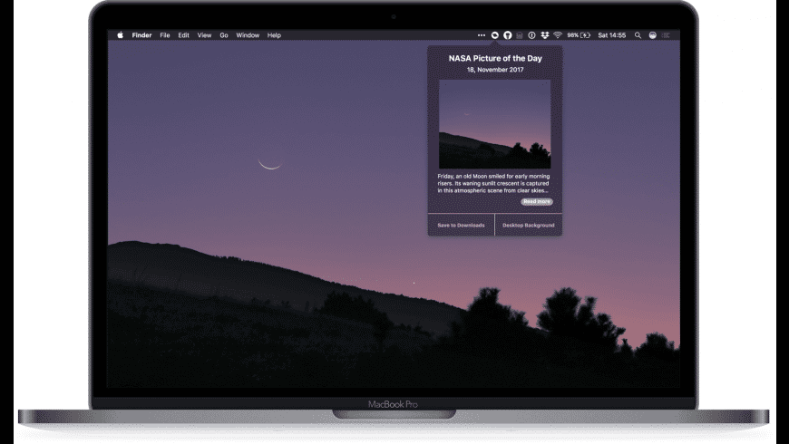NASA Picture of the day for Mac - review, screenshots