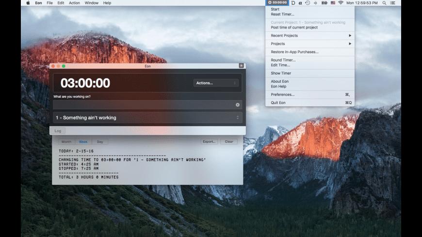 Eon Timer for Mac - review, screenshots