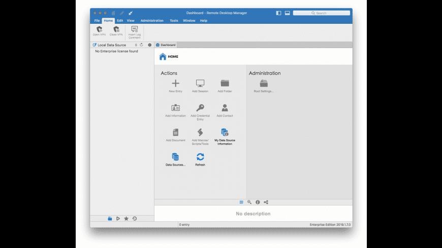 Remote Desktop Manager Enterprise for Mac - review, screenshots