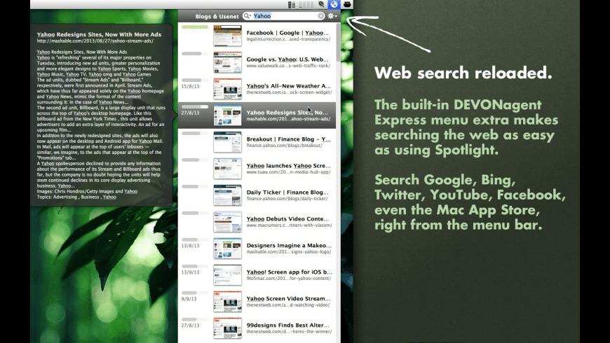 DEVONagent Pro for Mac - review, screenshots