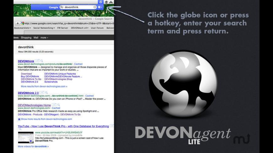 DEVONagent Lite for Mac - review, screenshots
