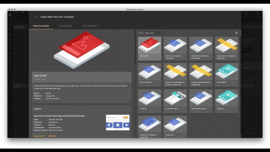 Google Web Designer for Mac - review, screenshots