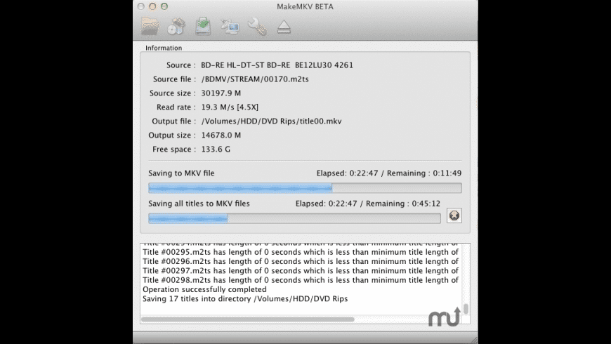 MakeMKV for Mac - review, screenshots