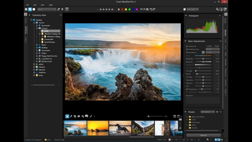 Corel AfterShot Pro for Mac - review, screenshots